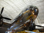 Underside of the nose of B-29 Superfortress bomber Enola Gay on display at the Smithsonian Air and Space Museum Udvar-Hazy Center, Chantilly, Virginia, United States, 26 Apr 2009