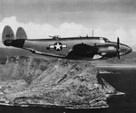 US Navy PV-1 Ventura patrol aircraft over Mokapu Point, Oahu, US Territory of Hawaii, 31 Aug 1945