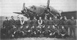 Members of No. 487 Squadron RNZAF posing with a Ventura bomber, RAF Methwold, Norfolk, England, United Kingdom, early 1943