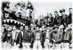 Airmen of US 74th Fighter Squadron posing in front of a P-40 Warhawk fighter, China, 2 Feb 1943