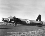 A Wellington bomber built at the Vickers-Armstrongs factory in Broughton, Flintshire, Wales, United Kingdom on the tarmac shortly after its completion, 7 Nov 1940