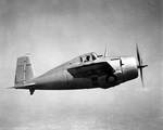 XF4F-3 prototype Wildcat in flight, Apr 1939