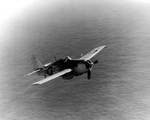 FM-2 Wildcat of USS Card in flight, 10 Feb 1944