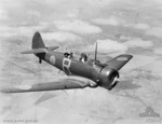 No. 21 Squadron RAAF Flying Officer James Herbert Harper flying a Wirraway aircraft over Laverton, Victoria, Australia, 9 Feb 1940