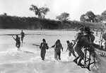 Royal Marines landing on Cheduba Island, Burma, 26 Jan 1945