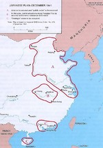 Map depicting Japanese plans for occupying China immediately before launching the third attack on Changsha, China, 3 Dec 1941
