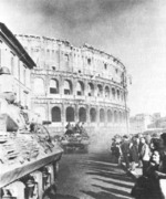 American tank destroyers at the Colosseum, Rome, Italy, Jun 1944