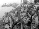 Soviet troops by the Songhua River in Harbin, China, Aug-Sep 1945