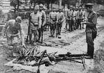 Japanese soldiers surrendering their weapons, northeastern China, Aug-Sep 1945