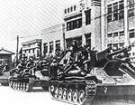 Russian tanks in Changun, Manchuria, Aug 1945
