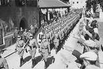 German troops marching into Austria, 12 Mar 1938