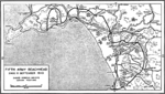 Map depicting Operation Avalanche progress at Salerno, Italy as of the end of the day 11 Sep 1943