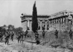 US troops at the Second Temple of Hera, Paestum, Italy, mid-Sep 1943