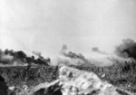 Palls of smoke rising above the countryside, Crete, Greece, late May 1941