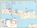 Map depicting the German assault on Crete, Greece, 20-31 May 1941