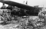 A crashed German glider with two of its occupants lying dead alongside, Crete, Greece, 6 Jun 1941