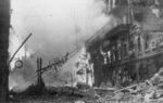 A building on fire in Kiev, Ukraine, 24 Sep 1941