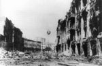 Ruined buildings in Kiev, Ukraine, Oct 1941