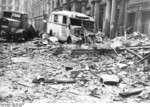 View of Mohrenstrasse, Berlin, Germany after the Allied bombing of 3 Feb 1945
