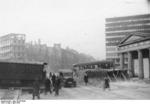 Roadblocks at Potsdamer Platz, Berlin, Germany, early Apr 1945