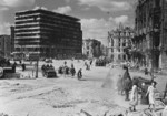 Columbushaus and other buildings at Potsdamer Platz in ruins, Berlin, Germany, 9 Jul 1945