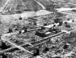 A section of Tokyo reduced to ruins after the Operation Meetinghouse bombing, 10 Mar 1945