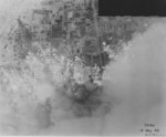 Nagoya, Japan during attack, seen from an American aircraft, 14 May 1945