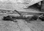 Charred mother and child after the Operation Meetinghouse bombing, Tokyo, Japan, 10 Mar 1945