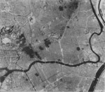 Aerial view of Tokyo, Japan after the 25 Feb 1945 raid, circa Mar-Apr 1945