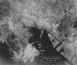 American analysis of bombing damage upon Yokohama, Japan, 31 May 1945
