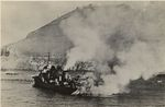 French destroyer Mogador burning after being damaged at the Battle of Mers-el-Kébir, French Algeria, 3 Jul 1940