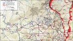 Map depicting the German 6th Panzer Army attack during the Ardennes Offensive, 16-19 Dec 1944