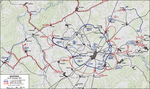 Map of the Bastogne, Belgium area, 19-23 Dec 1944