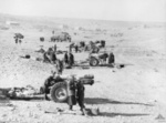 British 6-inch CWT BL Howitzers attacking Italian positions at Tobruk, Libya, 23 Jan 1941
