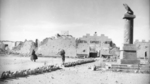 Fort Capuzzo, Libya just after British capture, 4 Jan 1941; note shrapnel damage to the Roman eagle column on the right