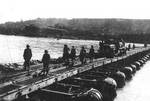 US 150th Combat Engineer Battalion bridging across the Rhine River, Germany, 23 Mar 1945