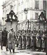 Adolf Hitler at Prague Castle, Prague, Czechoslovakia, 16 Mar 1939