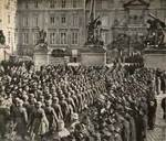 German troops marching on Prague Castle grounds, Prague, Czechoslovakia, 16 Mar 1939, photo 1 of 2
