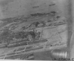 Aerial view of the naval base at Yokosuka, Japan, 18 Apr 1942, photo 2 of 2; photo taken by one of the Doolittle raiders