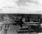 B-25 Mitchell bombers aboard USS Hornet, Apr 1942, photo 6 of 9
