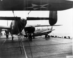 B-25 Mitchell bombers aboard USS Hornet, Apr 1942, photo 7 of 9