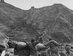 Chinese troops on the Great Wall near Luowenyu Pass, Hebei Province, China, 1933