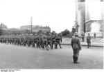 German troops marching in Paris, France, late Jun 1940