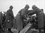 French soldiers firing 75mm cannon against German armor at Dunkirk, late May 1940