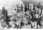 Destruction in the waterfront area of Calais, France, at 1230 hours on 1 Jun 1940
