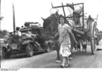 French refugees on a road near Gien, France, 19 Jun 1940
