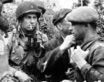 French resistance fighters working with American paratroopers in Normandy, France, Jun-Jul 1944