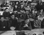 Ooperation Jedburgh personnel in a demolition class, Milton Hall, Cambridgeshire, England, United Kingdom, circa 1944