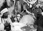 Troops of Italian 4th Artillery Regiment in the Garfagnana area of Toscana, Italy, Jan 1945