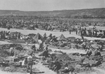 Prisoner of war camp in Sinzig, Germany, 12 May 1945